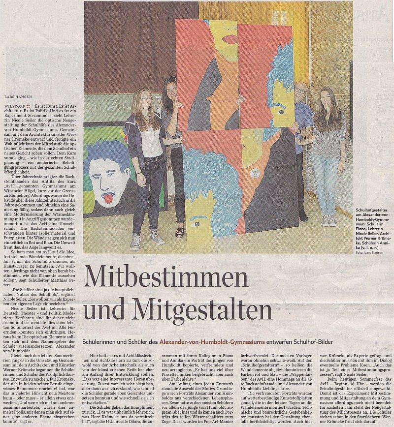 08.07.14 - Hamburger Abendblatt - Mitbestimmen und Mitgestalten