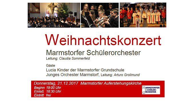 Einladung zum Weihnachtskonzert des Marmstorfer Schülerorchesters