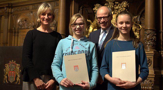 Auszeichnung der Wettbewerbssieger im Hamburger Rathaus