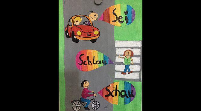 Sieger vom Alexander-Humboldt-Gymnasium  beim Plakatwettbewerb Verkehrspolizei Hamburg e.V.