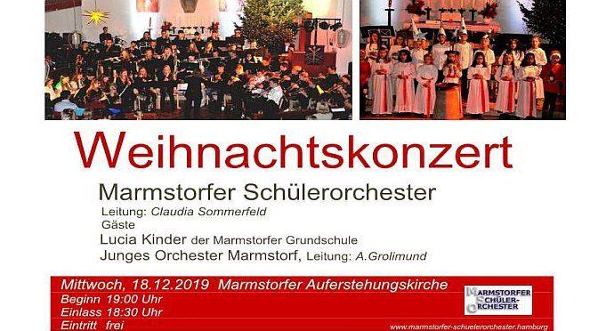 Weihnachtskonzert am Mi, 18.12.19 um 19 Uhr in der Auferstehungskirche Marmstorf