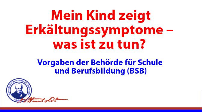 Was tun bei Erkältungssymptomen?